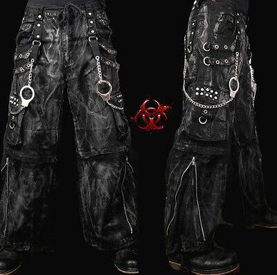 - TRIPP MECHANIC ACID RAVE GOTHIC CYBER CHAIN GOTH TECHNO JEANS PUNK PANTS AF7627M