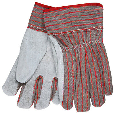 12 Pairs Mcr Safety Cowhide Leather Palm Work Gloves - Large