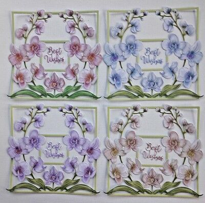 Die Cut Tattered Lace Outstanding Orchids Flower Scene Frame Card Topper