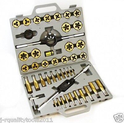 Large Sae Titanium Standard Tap And Die Threading Tool Set