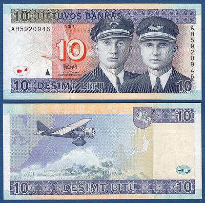 LITAUEN / LITHUANIA 10 Litu 2001 UNC  P.65