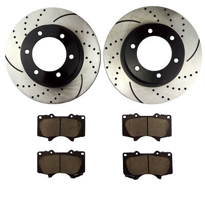 Front Brake Rotors and Pads for 2005 - 2017 Toyota Tacoma 2003 - 2009 4Runner