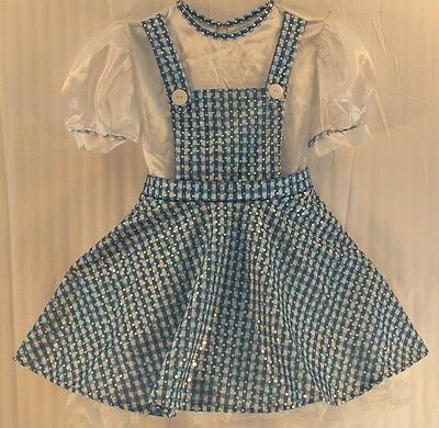 THE WIZARD OF OZ * DOROTHY * Costume Dress Blue & White Gingham Pattern with Dog - Dog Wizard Of Oz Costumes