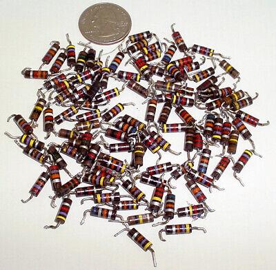 100 Vintage 12w Bakelite Carbon Composite Resistors Mixed Values 1