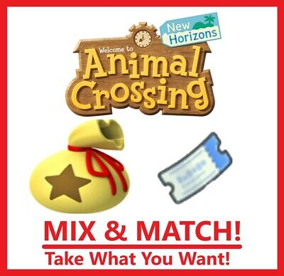 Animal Crossing New Horizons 12M Bells or 400 Tickets - Mix & Match - ONLINE NOW