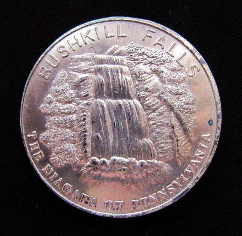 BUSHKILL FALLS The NIAGARA of PENNSYLVANIA Old Souvenir 1863 Penny Paperweight