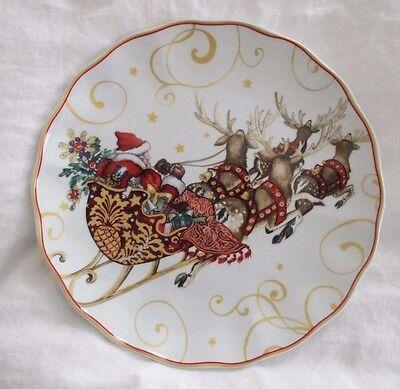 Nos Williams Sonoma Twas The Night Before Christmas Dinner Plates Set 3