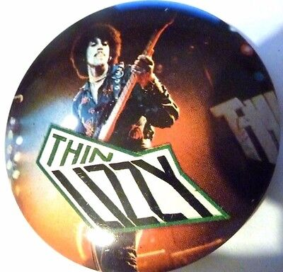 THIN LIZZY, Phil Lynott , , Vintage 1970's - 1980's PIN / BADGE