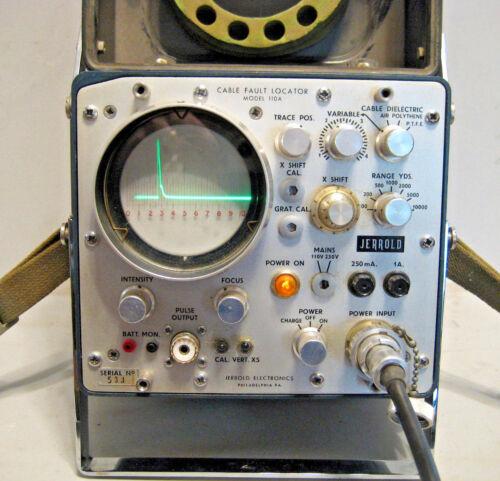 JERROLD VINTAGE COAX CABLE FAULT LOCATOR TESTER MODEL 110A TDR CATV
