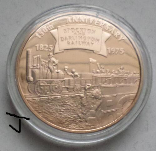 Stockton Darlington Railway Railroad Locomotive Historical Society Bronze Medal