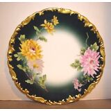 """T&V Limoges 8 1/2"""" Plate Hand Painted Chrysanthemums"""