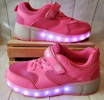 73ebf76ffed2 Tuko Rechargeable LED Light Up Roller Skate Shoes Heel Wheels Girls Sz 5.5