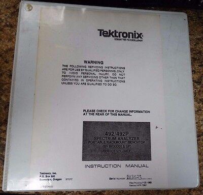 Tektronix 492492p Instruction Manual