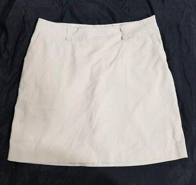 NIKE Golf Beige Tan Athletic Golf Tennis Skort Skirt Size 12