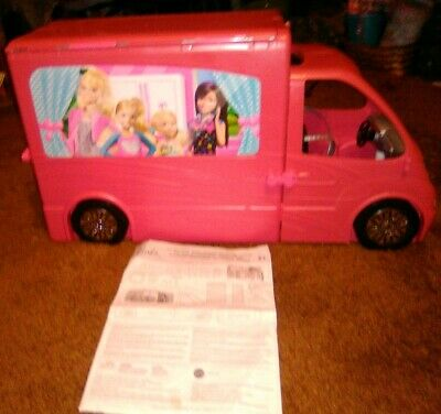 Collectible Barbie Sisters Dreamhouse Glam Camper RV Complete Set w manual
