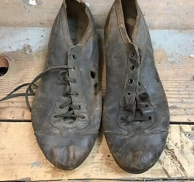 460e9327982f Vintage Baseball Cleats Shoes Pitchers Leather Black Size  Sports