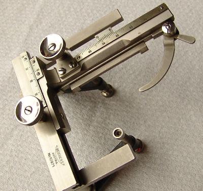 Vintage Reichert Micrometer Microscope Mechanical Stage Kreuztisch