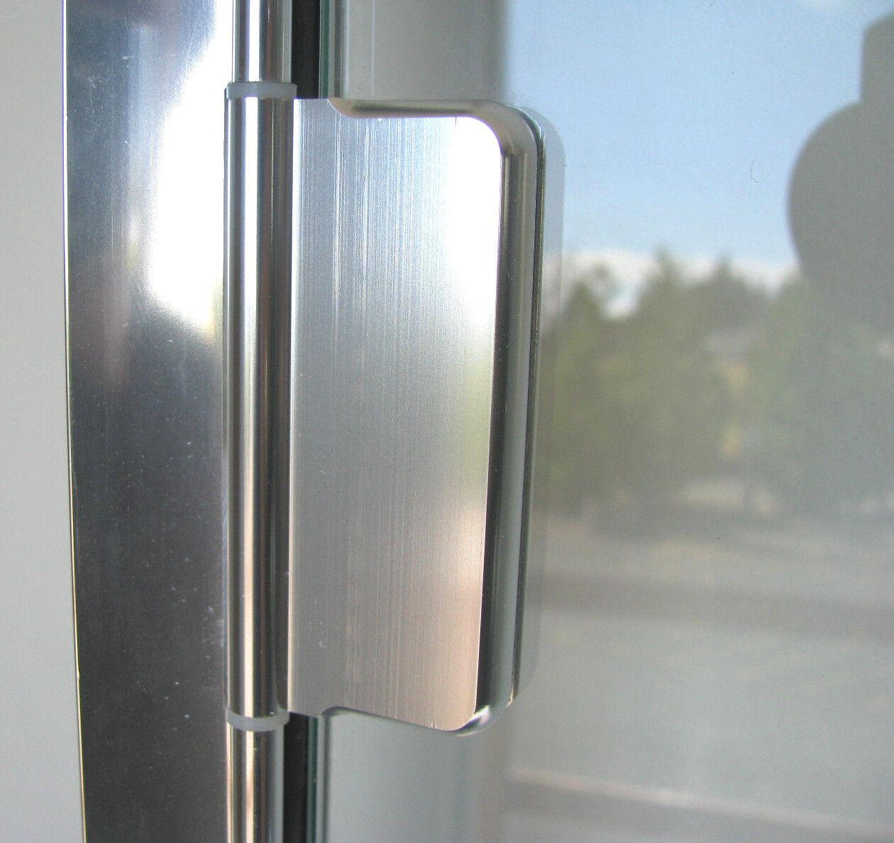 Agalite 14 Semi Frameless Hinged Glass Shower Door Accent