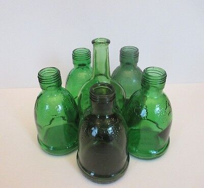 Green Bottles 5 Wine World 1976  and 1 from Japan