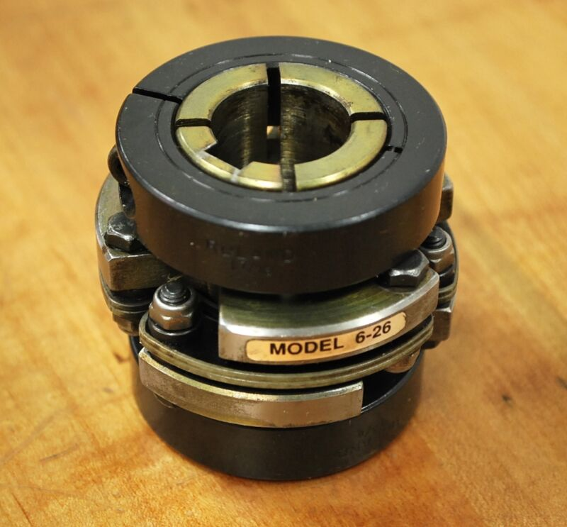 Ruland Model 6-26 Servo Motor Coupling, 20 x 24mm Bore and 6 x 8mm Key-Way Size