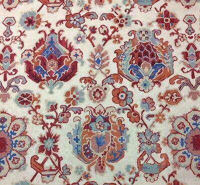 Ballard Design Faro Berry Suzani Saroukrug Floral Geometric Fabric By Yard 54  W