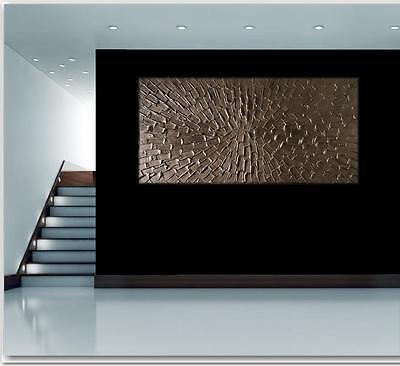 Kunstgalerie-moucha Gemälde Bild UNIKAT 3D Silber Modern Kunst Struktur NEU 2017