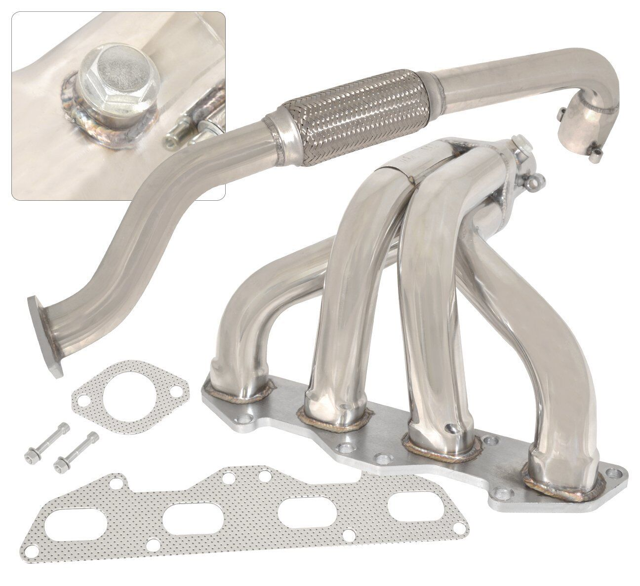 Fit Eclipse//Talon 95-99 Non-Turbo Stainless Performance Header Manifold Exhaust