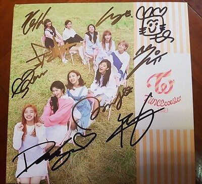 Twice all members signed TWICEcoaster:LANE1 wif chaeyoung cd cover no photo card