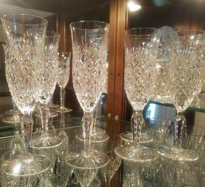 Vintage American Cut Crystal Champagne Flutes. Yugoslavia (ACC) 7