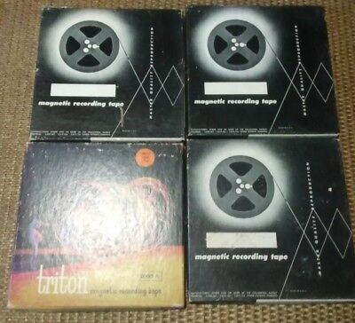 "4 Used 7"" Reel To Reel Tapes"