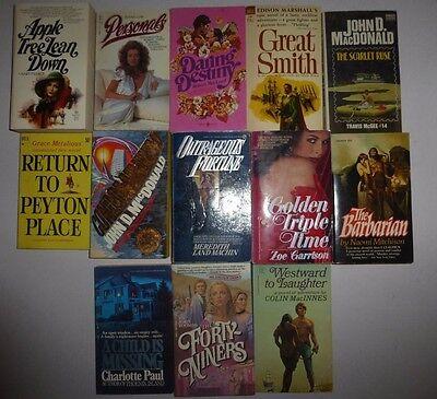 Lot of 13 Vintage Historical Romance Large Novels in Paperback