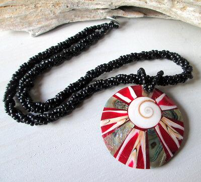 Muschelkette Halskette Perlenkette Anhänger Perlmutt Schmuck aus Thailand neu
