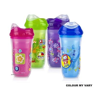Nuby Kids Easy Cool Insulated Sipper Spout No-Spill Toddler 270ml Cup +18m