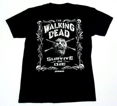 TheWalking DeadAMC 2015 SURVIVE OR DIE movie black t shirt size M TVshow