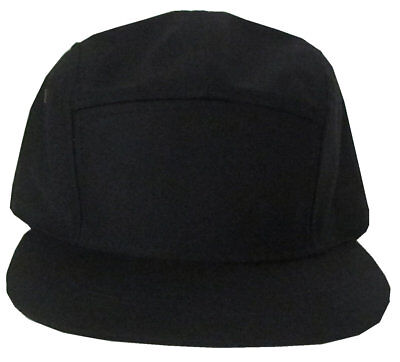(COTTON 5 PANEL SOLID BIKER BUCKLE STRAP BACK  ADJUSTABLE LEATHER  CADET CAP )