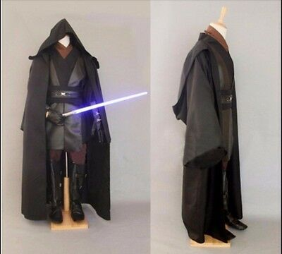 Jedi Anakin Skywalker Darth Vader Adult Costume Cloak Robe Cosplay Wars Star - Skywalker Costume