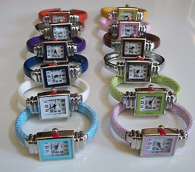 Girls Cool Fashion Watch - Small skinny square shape cool candy colors women's/girl's bangle fashion watch