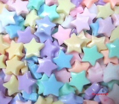 200 pcs Star Beads Pastel Color Plastic 8 mm for kids Crafts Diy Free shipping](Plastic Star Beads)