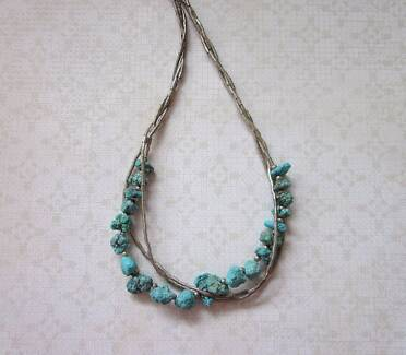 Vintage silver & turquoise necklace New Lambton Newcastle Area Preview