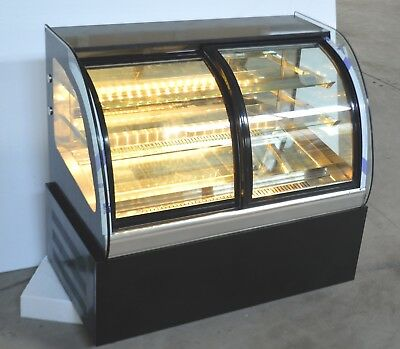220v Refrigerated Cake Showcase Bakery Display Cabinet Open The Front Door New