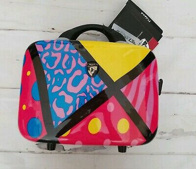 Heys Luggage Milano Hard Case Pop Collage NWT with Free Passport Cover NWT