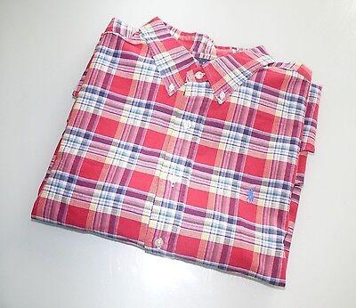 Polo Ralph Lauren Multi color Plaids Button Down Shirt Sport , Size XXL Sale