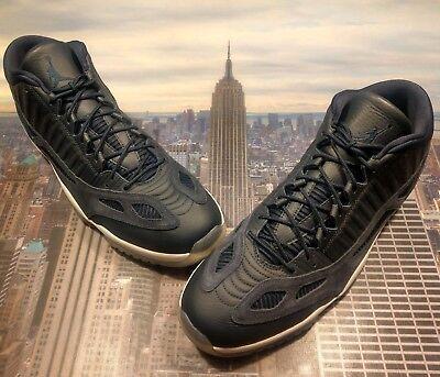 eeb811c1df08 Nike Air Jordan XI 11 Retro Low IE Obsidian White Mens Size 18 919712 400  New