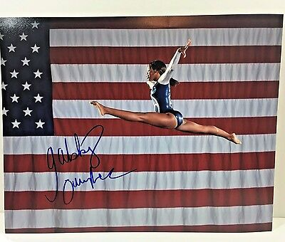 Gabrielle Gabby Douglas Signed Autograph 11X14 Photo 2016 Rio Olympics Usa Gold
