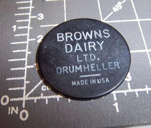 Browns Dairy Drumheller Alberta Canada token, good for one qt Vita Vim, black