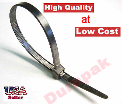 """2000~ 8"""" Black Cable Wire Tie 50 Lbs Zip Nylon Fasten Binding Holding UV Resist for sale  Shipping to India"""
