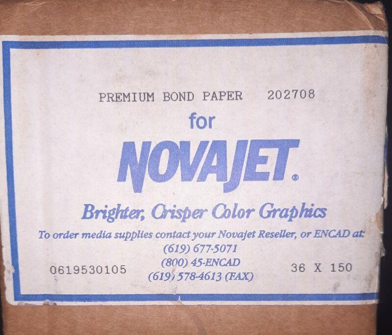 Premium Bond Paper for Novajet Encad 36 X 150 202708