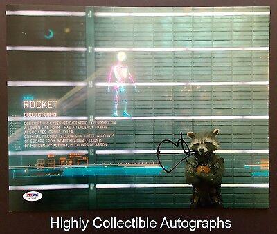 Bradley Cooper Signed 11X14 Photo Psa Dna Coa Rocket Raccoon Guardians Galaxy