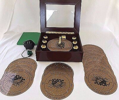 Mr Christmas Musical Bell Symphonium Music Box w/ 16 Discs Works Well