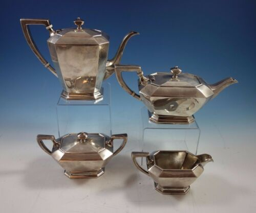 Fairfax By Durgin-gorham Sterling Silver Tea Set 4pc #04 (#1641) Fabulous!